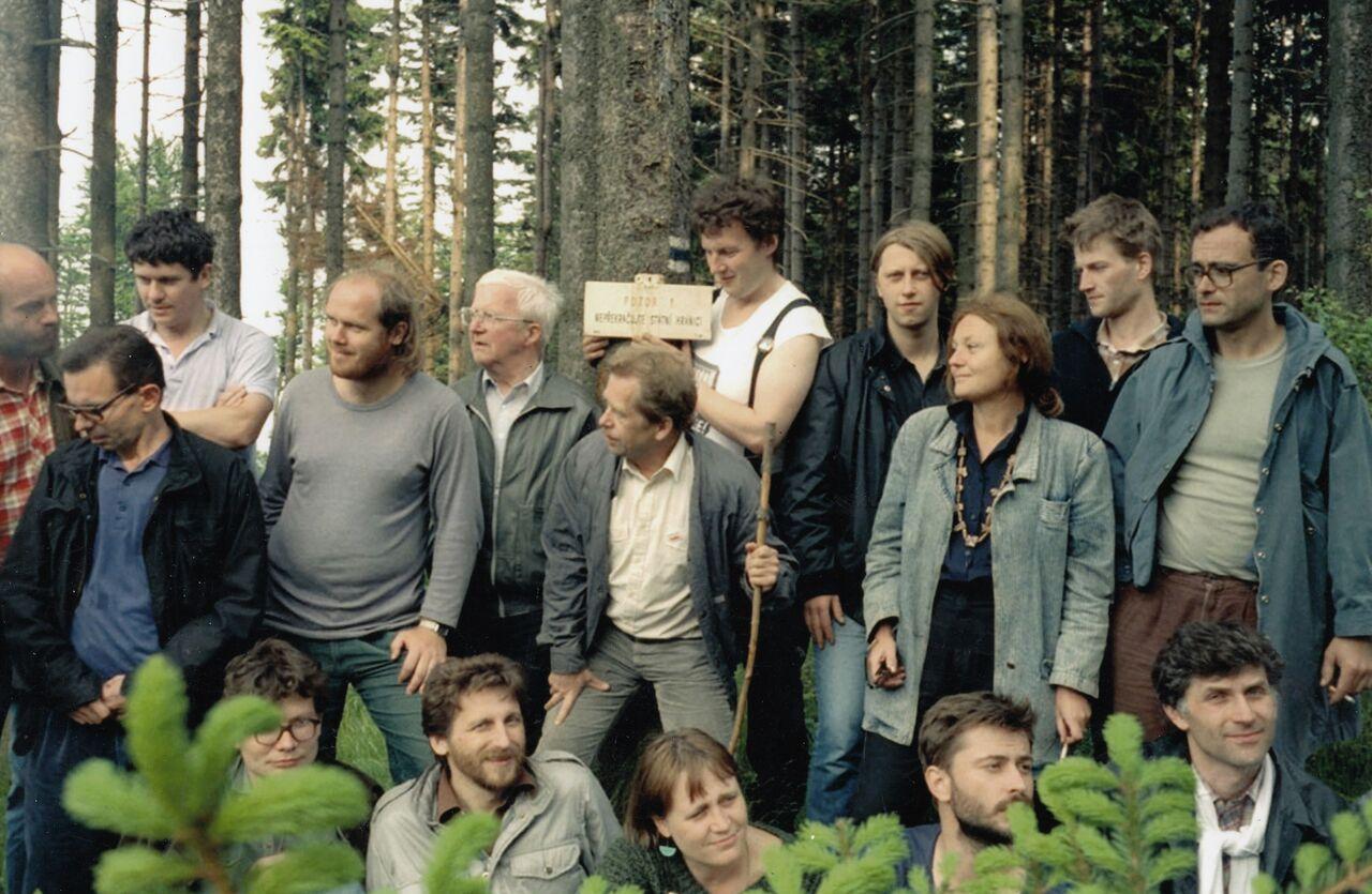 Setkání s polskými disidenty na Borůvkové hoře v roce 1987