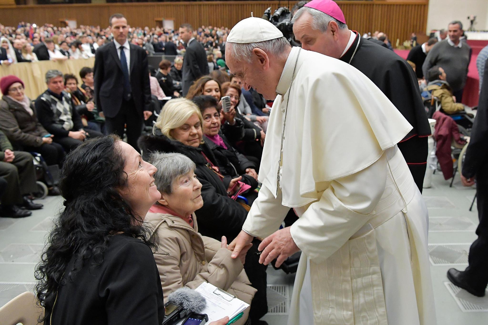 Díky projektu Ježíškova vnoučata požehnal paní Jarmile sám papež František I.