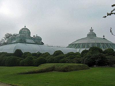 Skleníky u belgického paláce Laeken