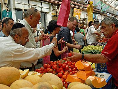 Tržiště Machane Jehuda v Jeruzalémě