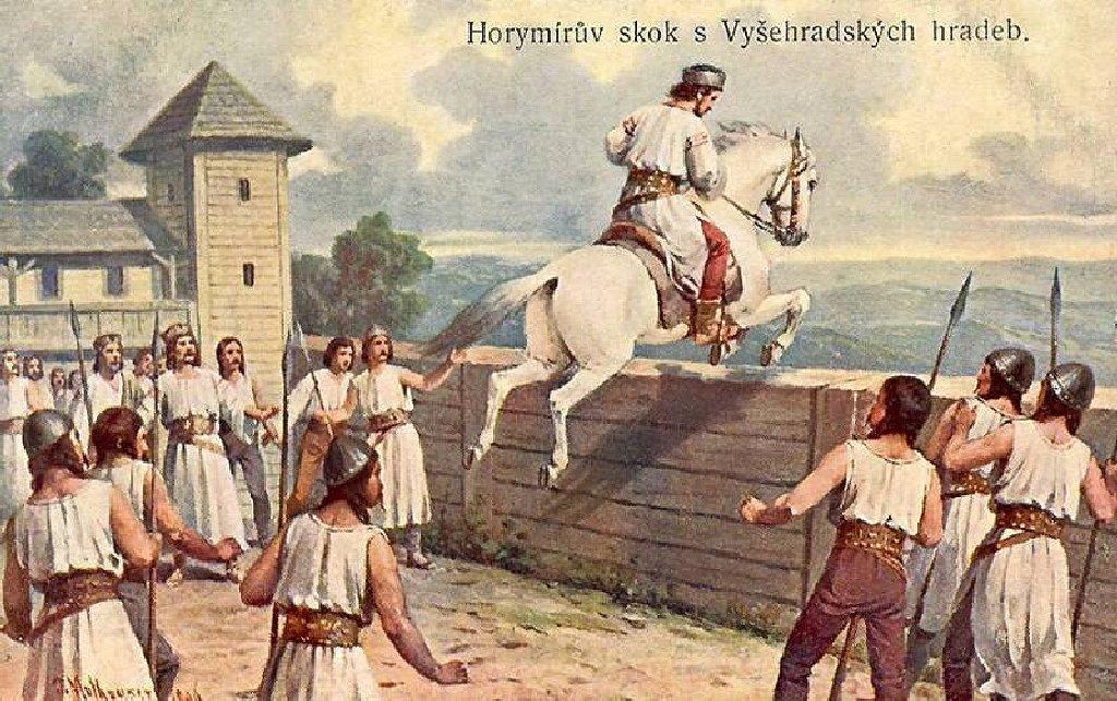 Horymírův skok z vyšehradských hradeb