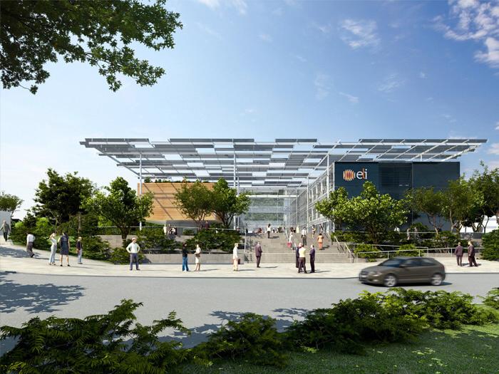 Architektonický návrh budovy projektu ELI Beamlines