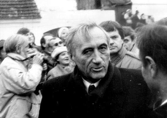 Tadeusz Mazowiecki v roce 1989