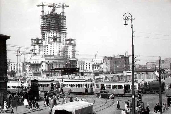 Palác kultury a vědy v 50. letech