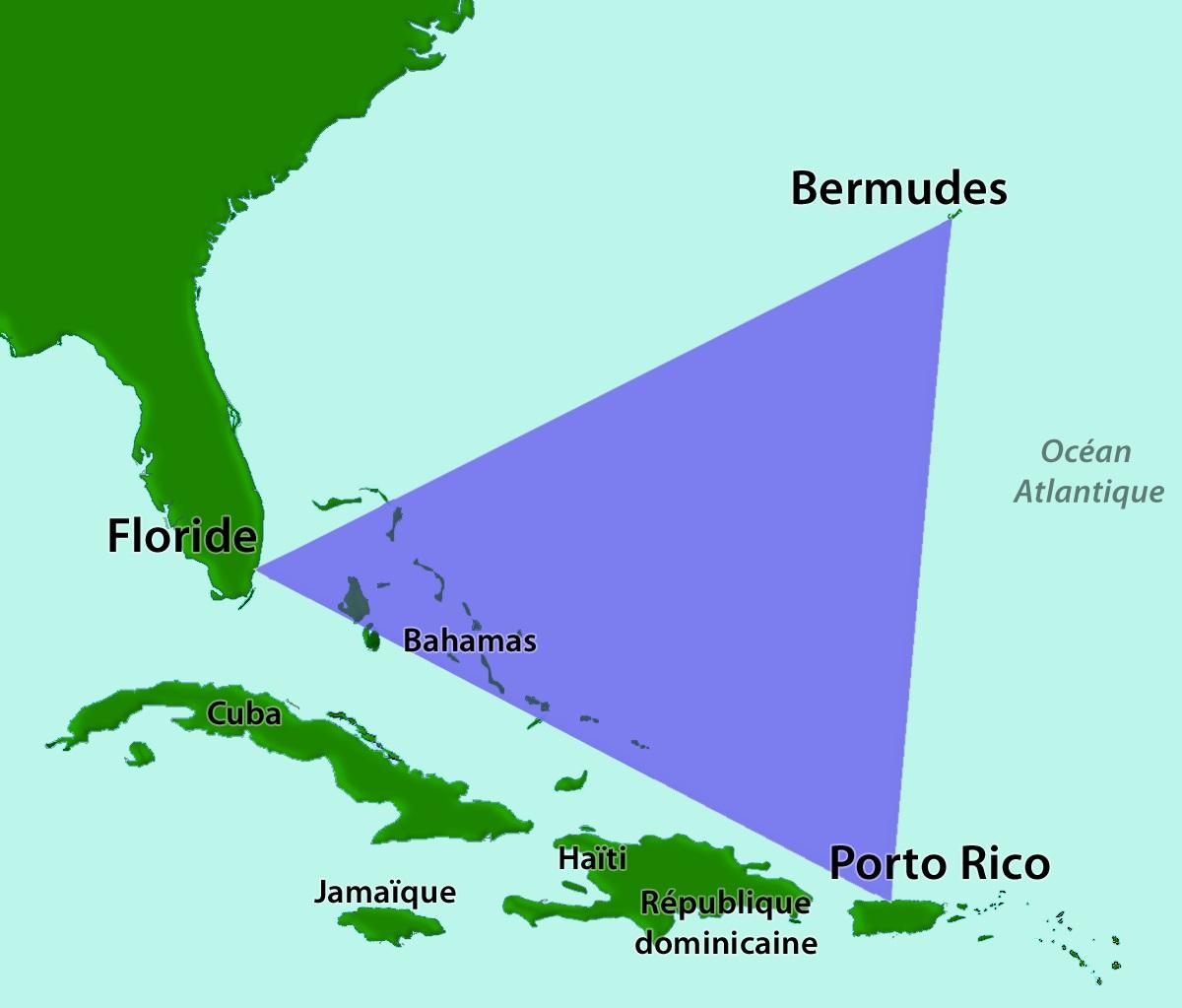 Bermudský trojúhelník (mapa oblasti)