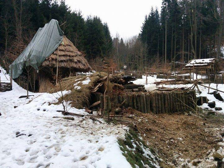 Keltské opidum v zimě