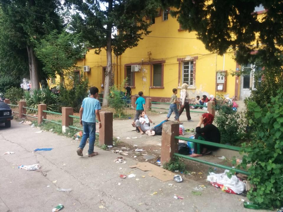 Uprchlíci na makedonském nádraží Gevgelija 4