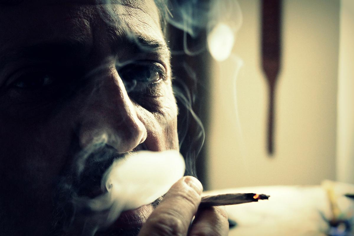 německá žena kouření