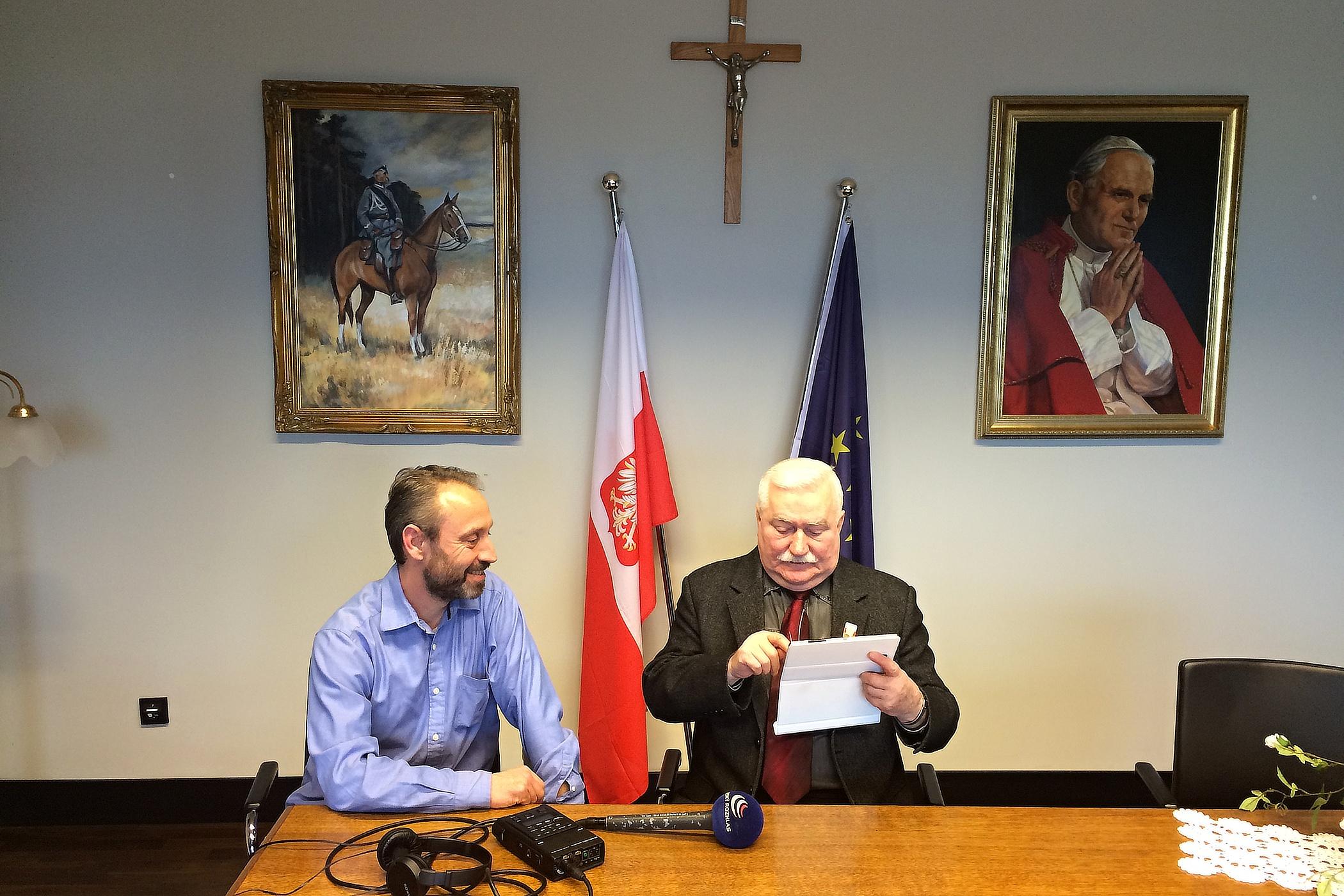 Vít Pohanka a Lech Walesa