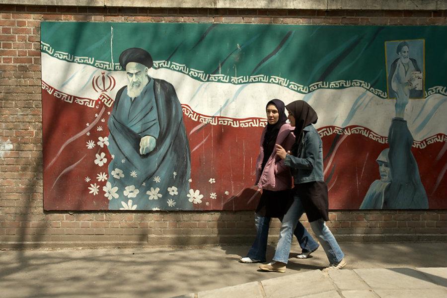 Lidé v ulicích Teheránu