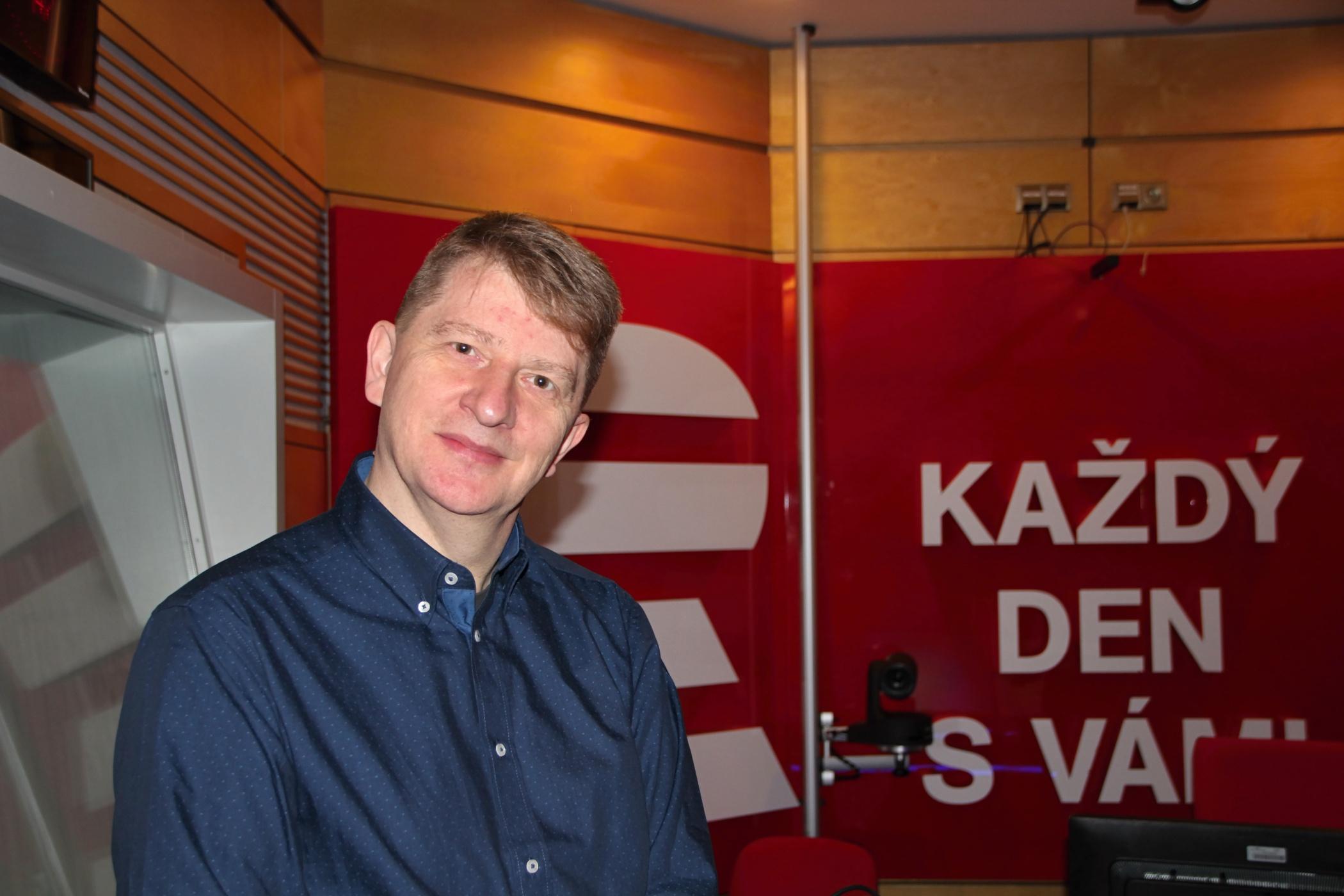 Jiří Padevět odpovídal na otázky moderátorky Lucie Výboné