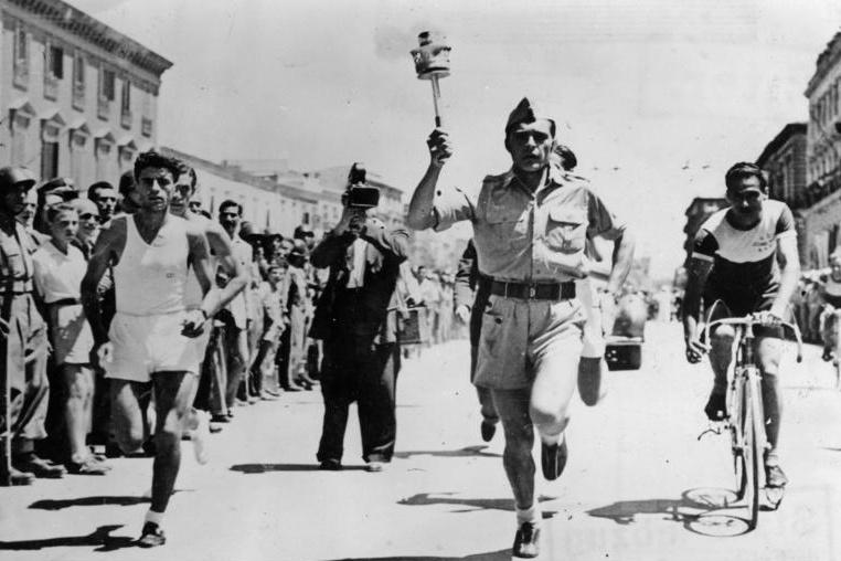 Běh s olympijskou pochodní na LOH v Londýně 1948
