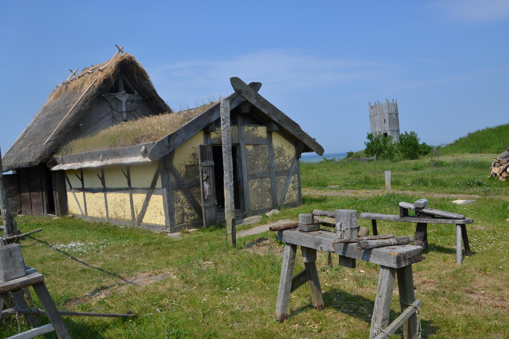 Foteviken - věrná replika vesnice z vikingských dob