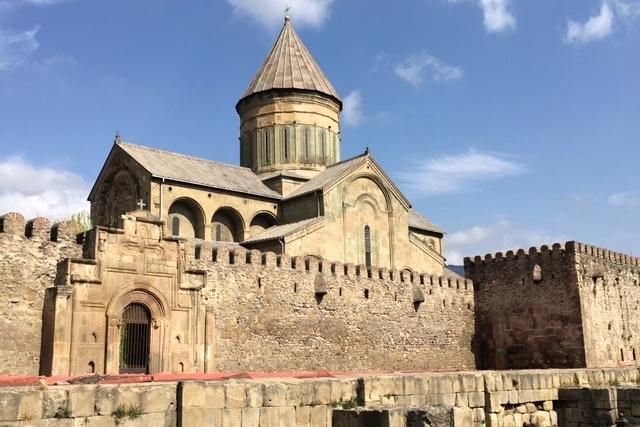Klášter s katedrálou v gruzínském městě Mccheta