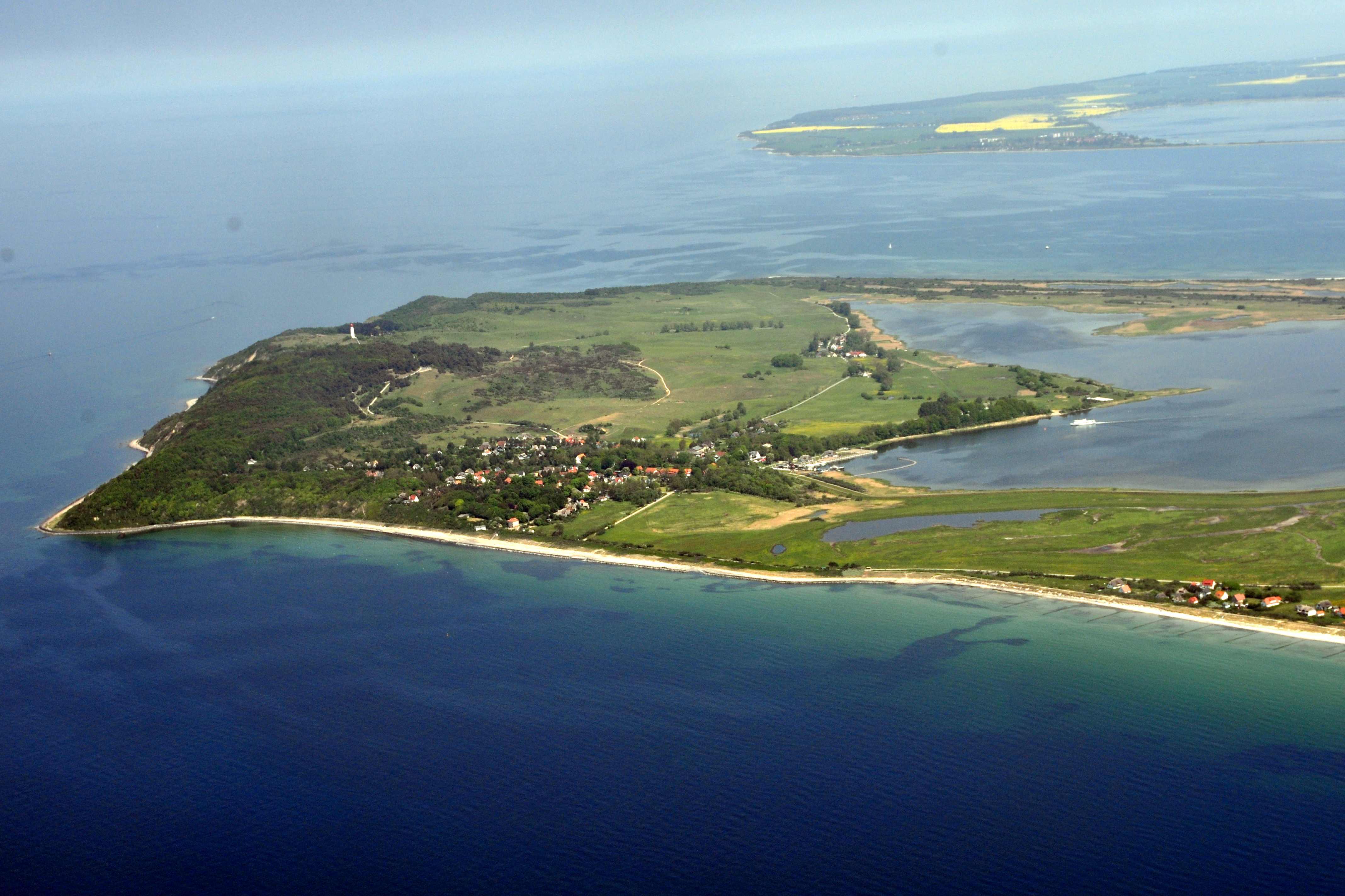 Ostrov Hiddensee v Baltském moři