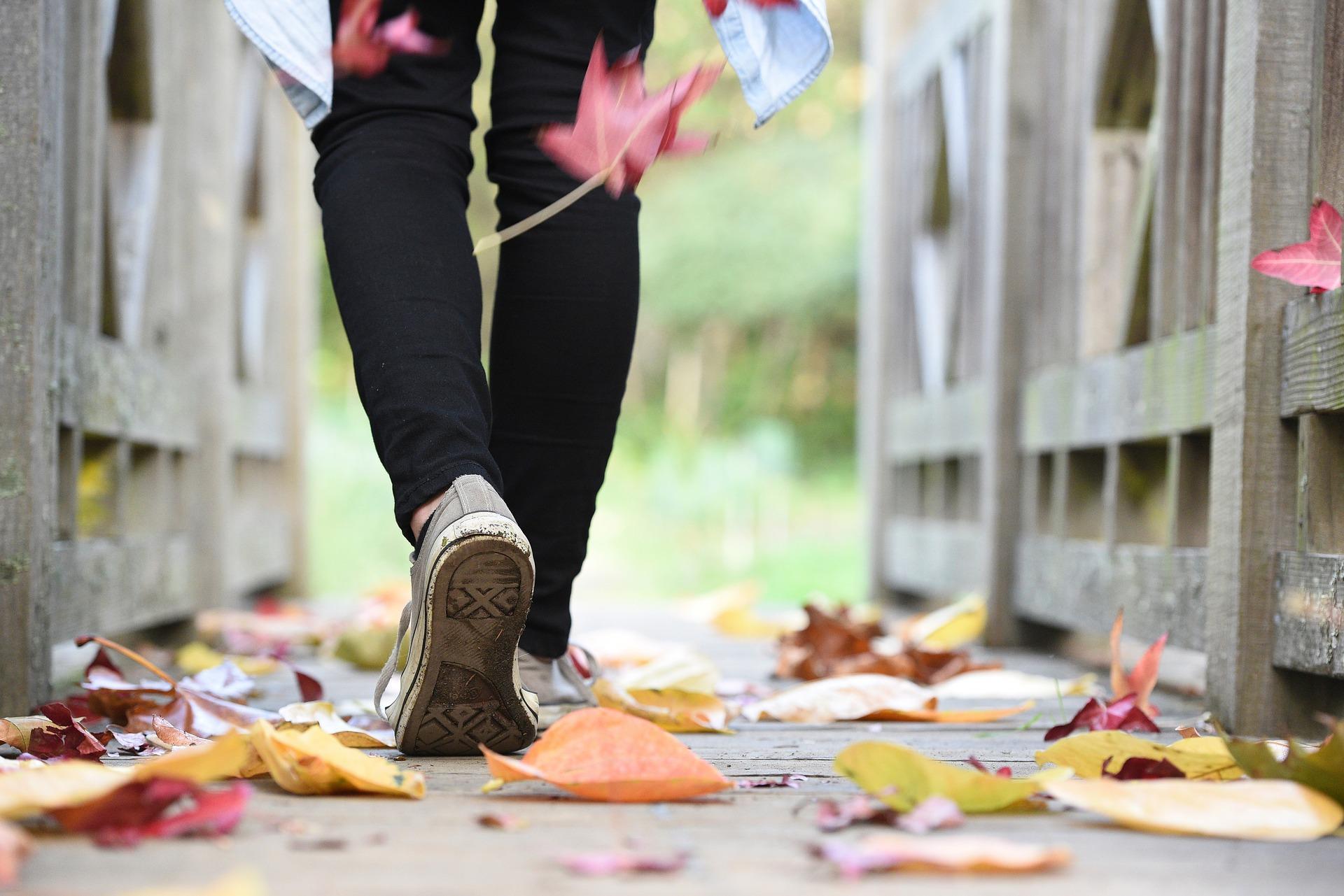 Chůze, listí, podzim