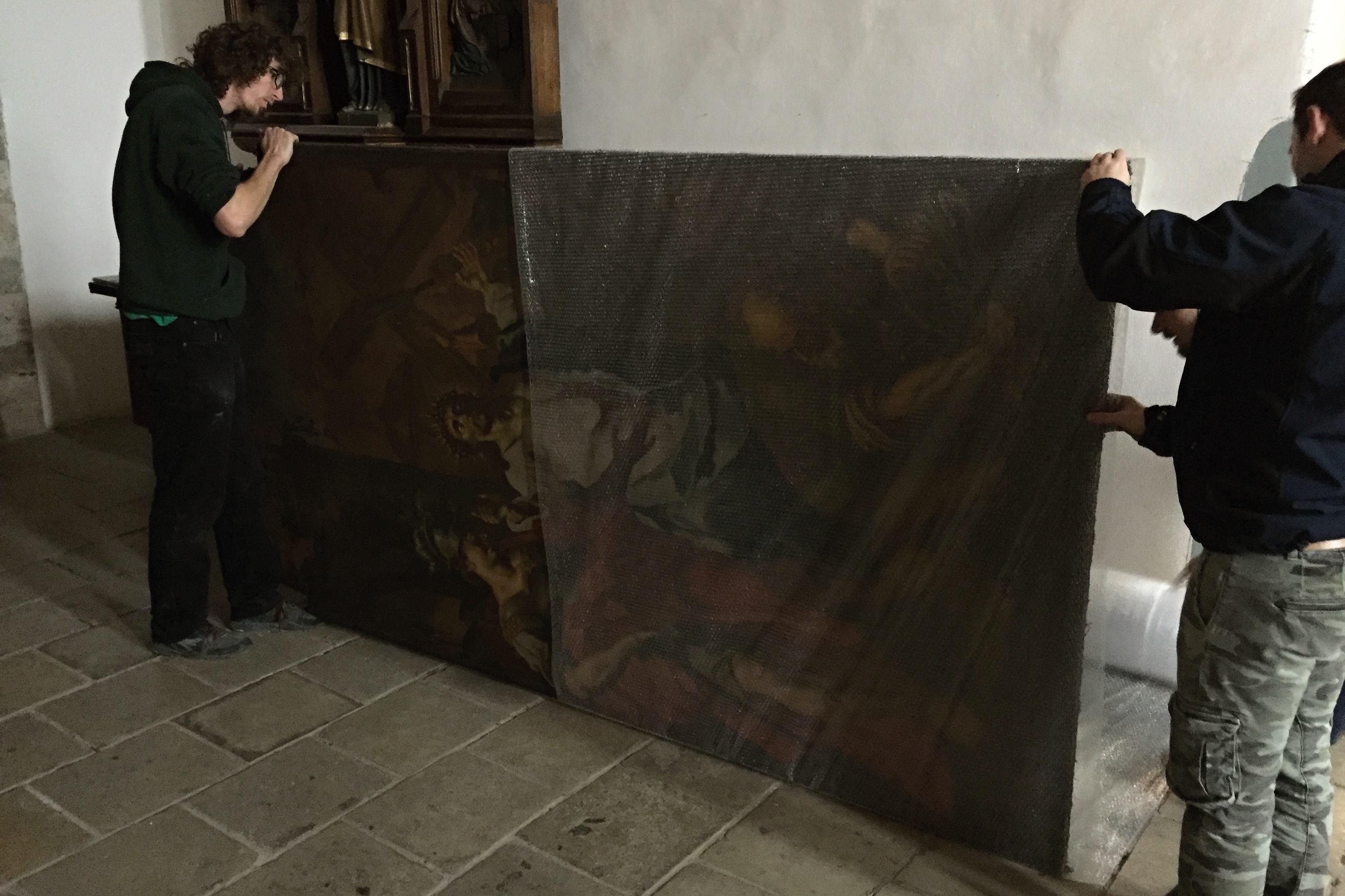 Do restaurátorské dílny putují pouze plátna, rámům by změna mikroklimatu neprospěla