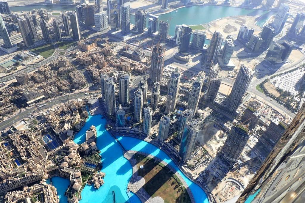 Výhled z mrakodrapu Burdž Chalífa