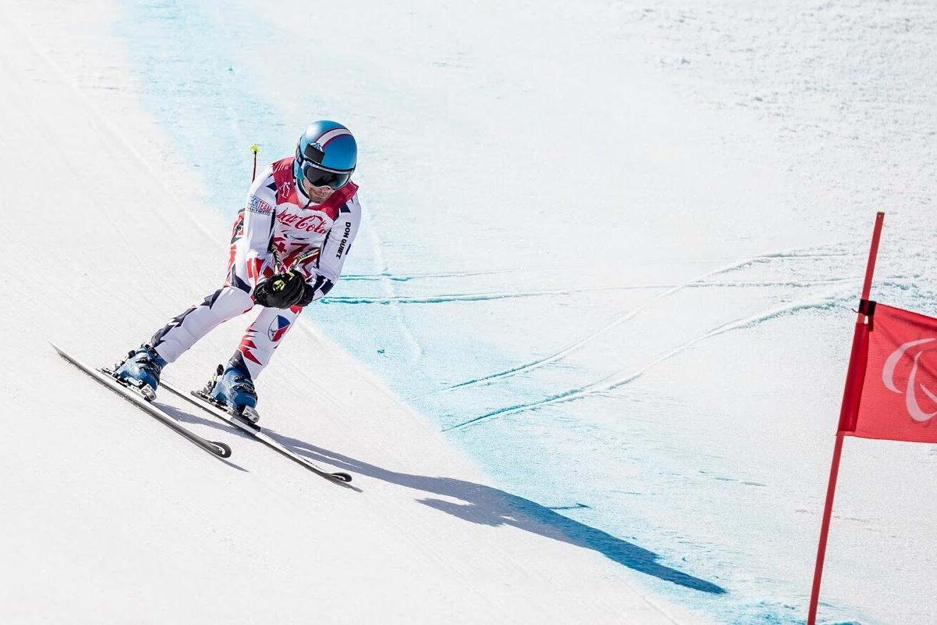 Český paralympionik Tomáš Veverka v závodě na hrách v Pchjongčchangu