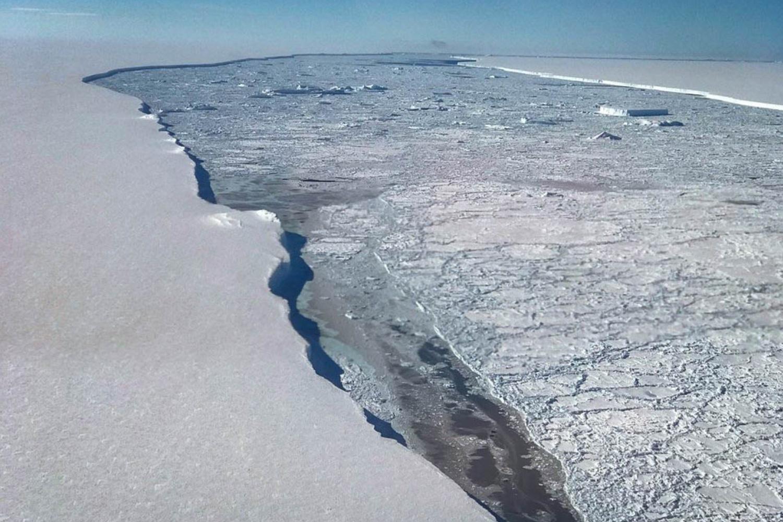 Trhlina mezi ledovcem Larsen C a obří krou, která dostala název A-68. Vědci jsou mimo jiné nadšení z náhle možnosti odkrýt, jaké formy života jsou schopny přežít v mrazivé vodě pod stovky metrů tlustou vrstvou ledu.
