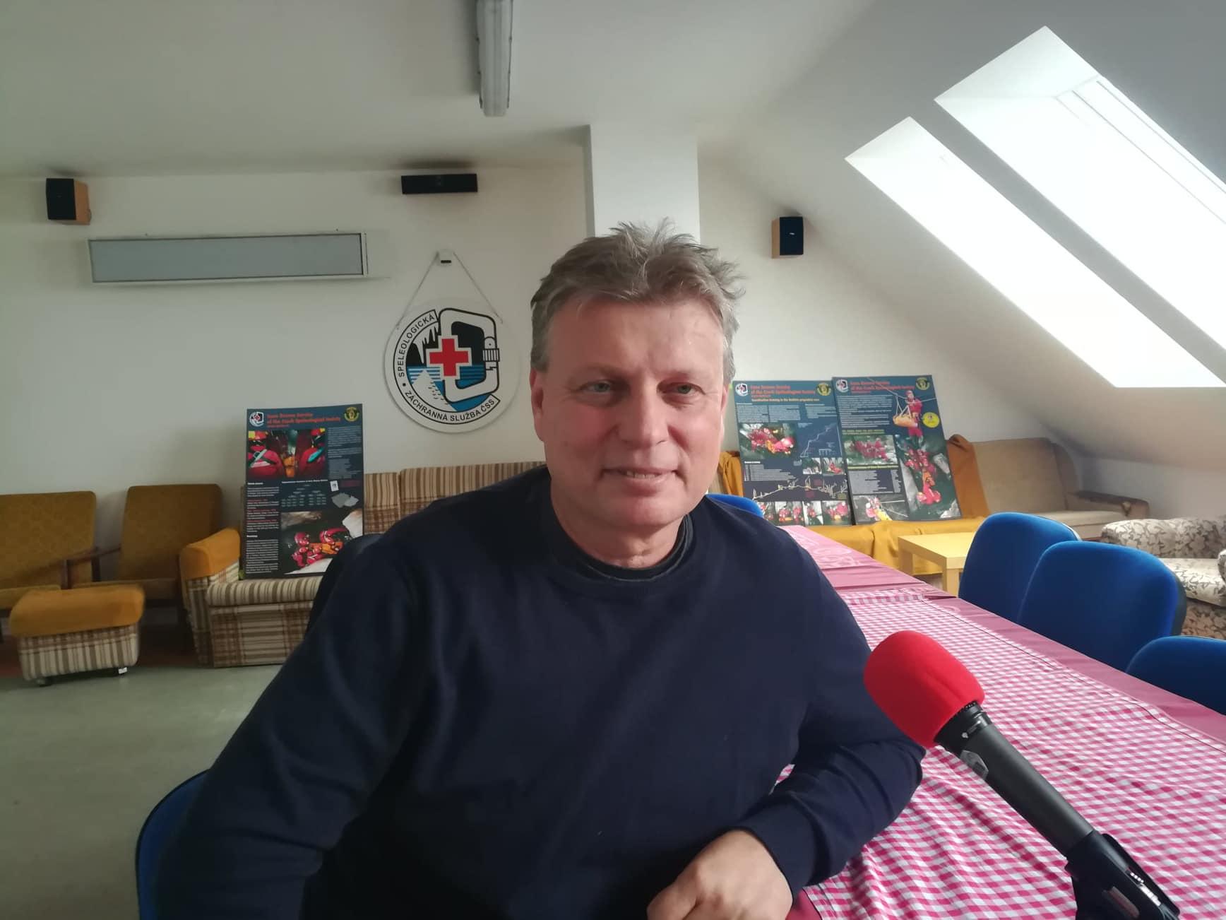 Speleolog a jeskyňář Roman Šebela