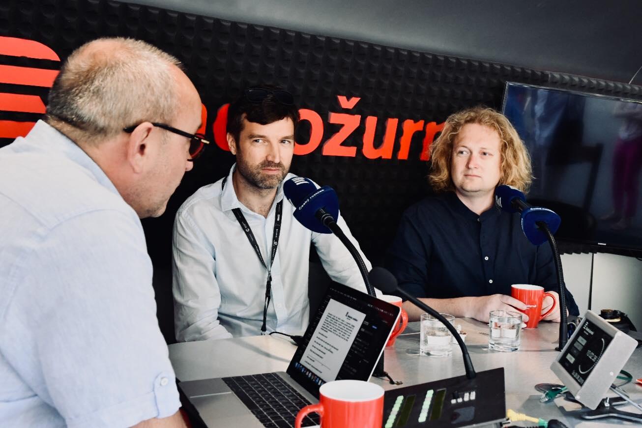 Jan Pokorný zpovídal autory filmu Staříci přímo na festivalu v Karlových Varech