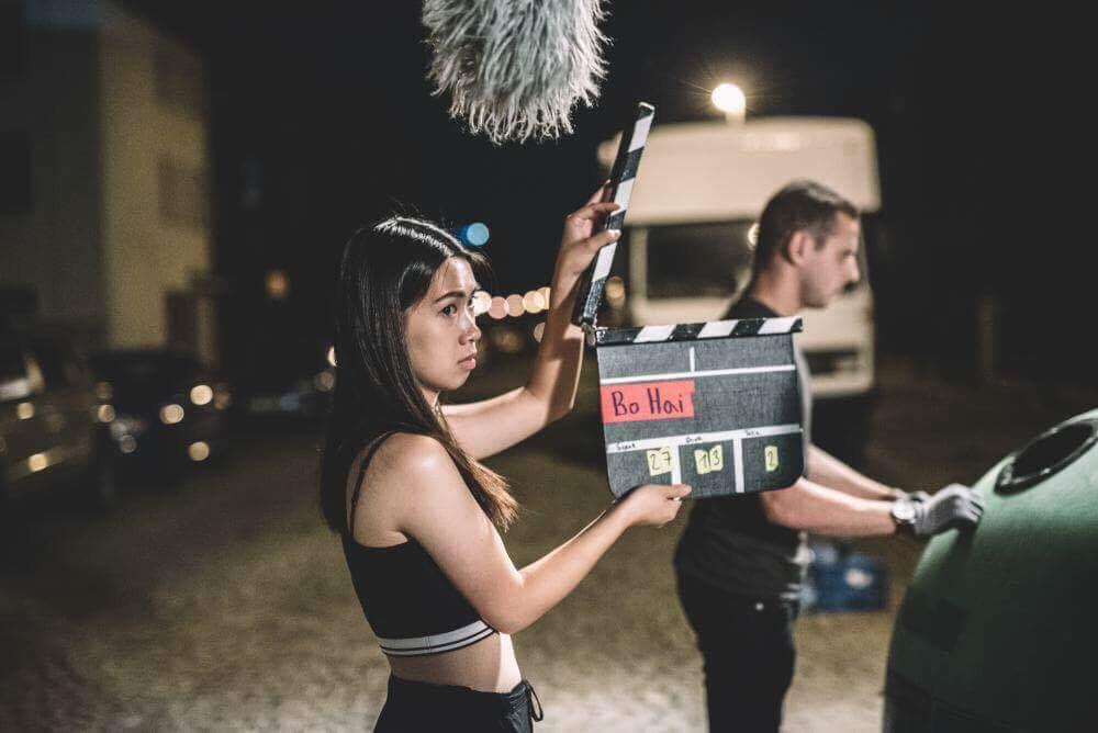 Mai Lan Nguyen na natáčení