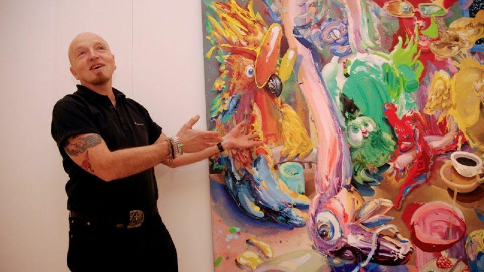 Michael Rittstein / výstava  Vlhkou stopou,  Veletržní palác