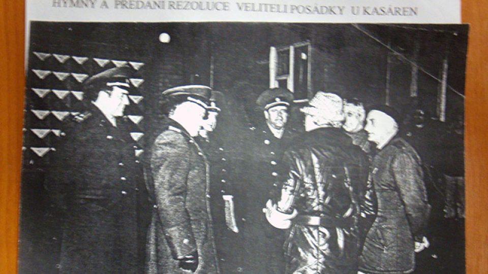 Demonstrace za odsun vojsk v Turnově 29. 1. 1990