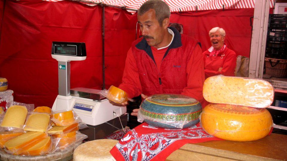 Trh se sýry se na náměstí v Goudě koná každý letní čtvrtek. Pokud ho ovšem nepřekazí počasí