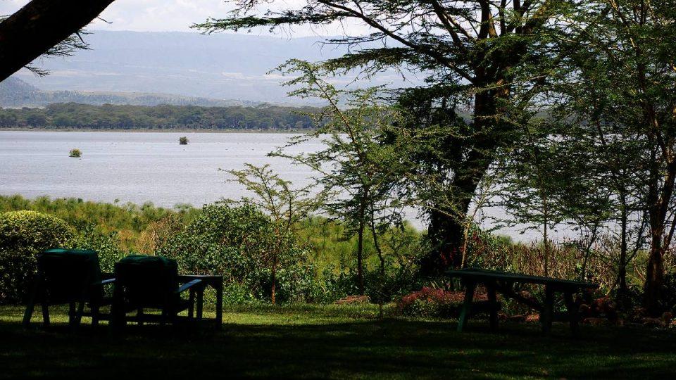 Návštěvníkům Elsameru se nabízí výhled na jezero