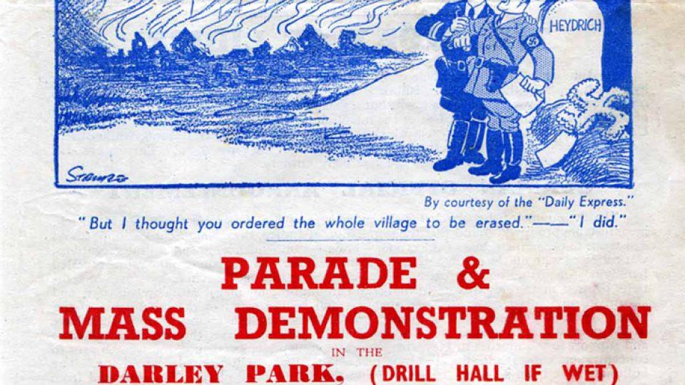 Lidice Shall Live – jeden z vydaných plakátů v září 1942