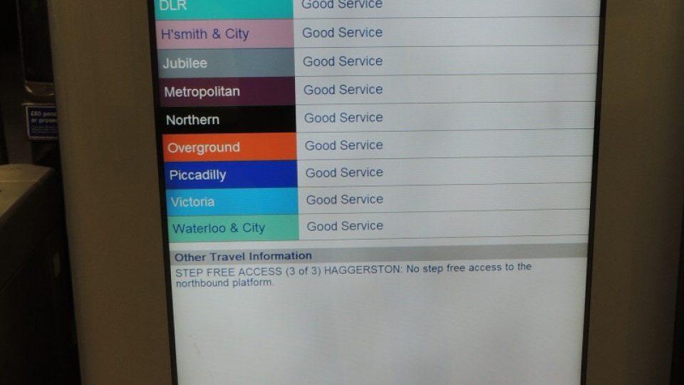 Informace pro cestující