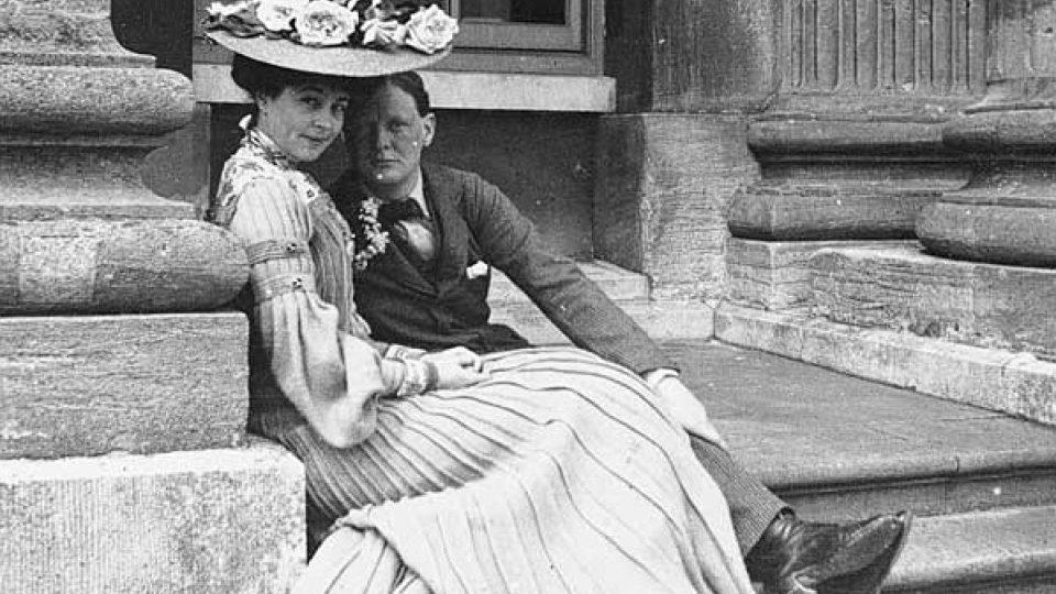 Consuela Vanderbiltová a Winston Churchill (kolem roku 1900)