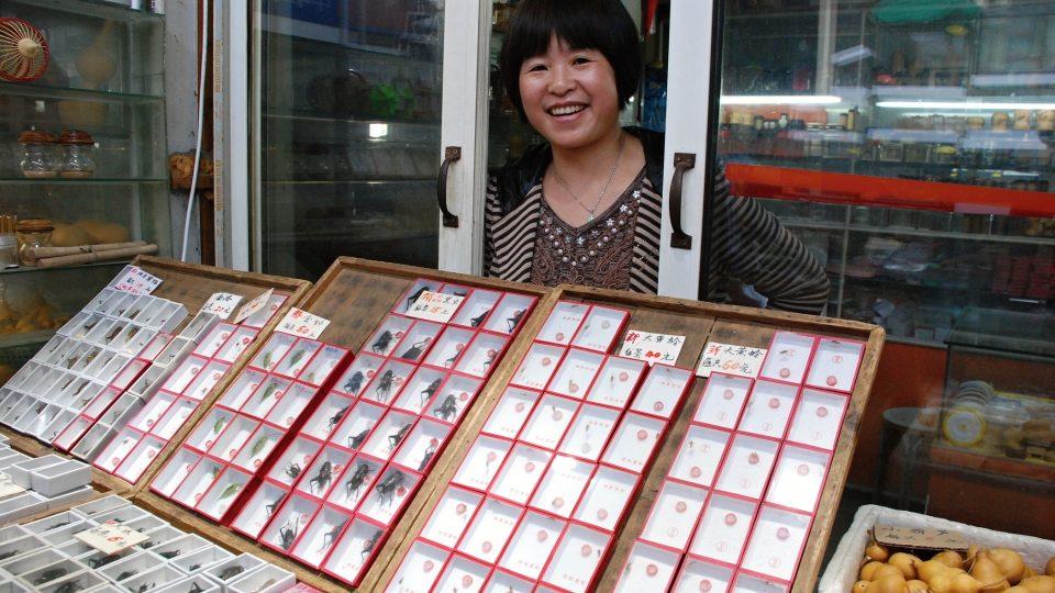 Jak tvrdí hmyzí obchodnice Čju Čju  Šin, v Šanghaji prý lidé hmyz milují