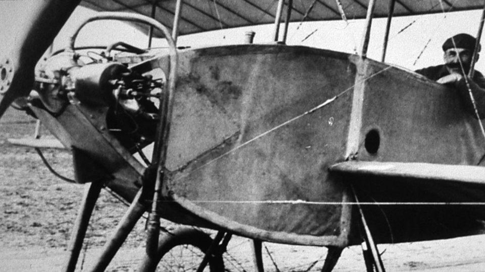 Jan Čermák v letadle