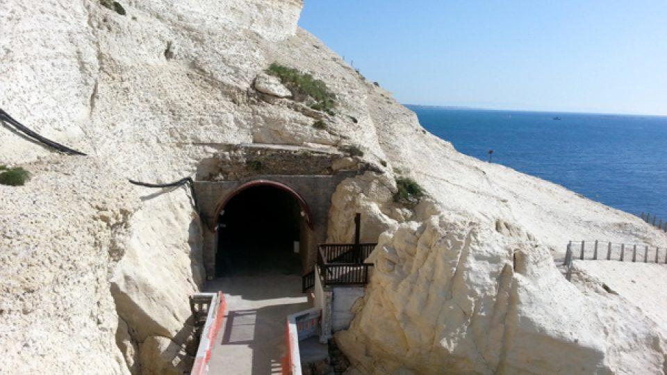 Bývalé železniční tunely mezi Izraelem a Libanonem