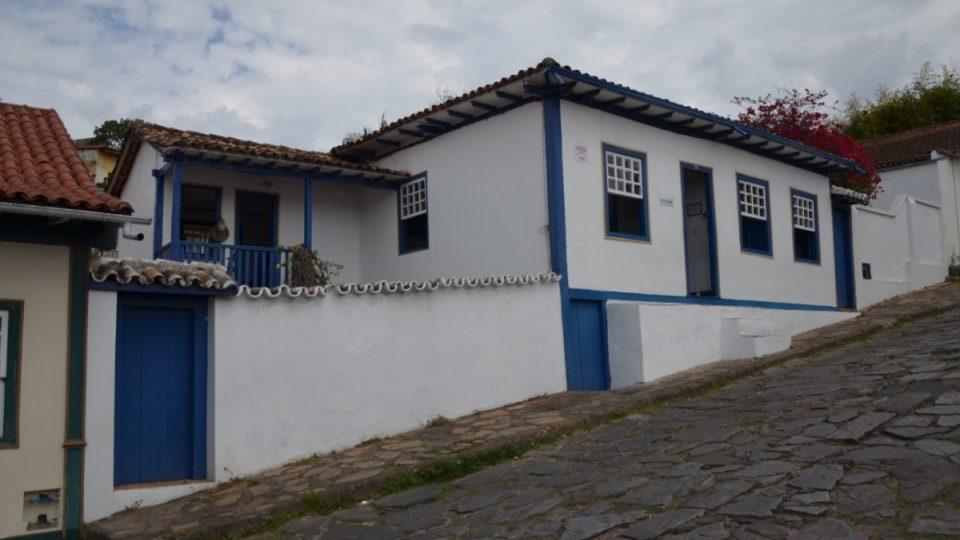 Dům ve městě Diamantina, kde žil jako malý s matkou a dcerou Juscelino Kubitschek