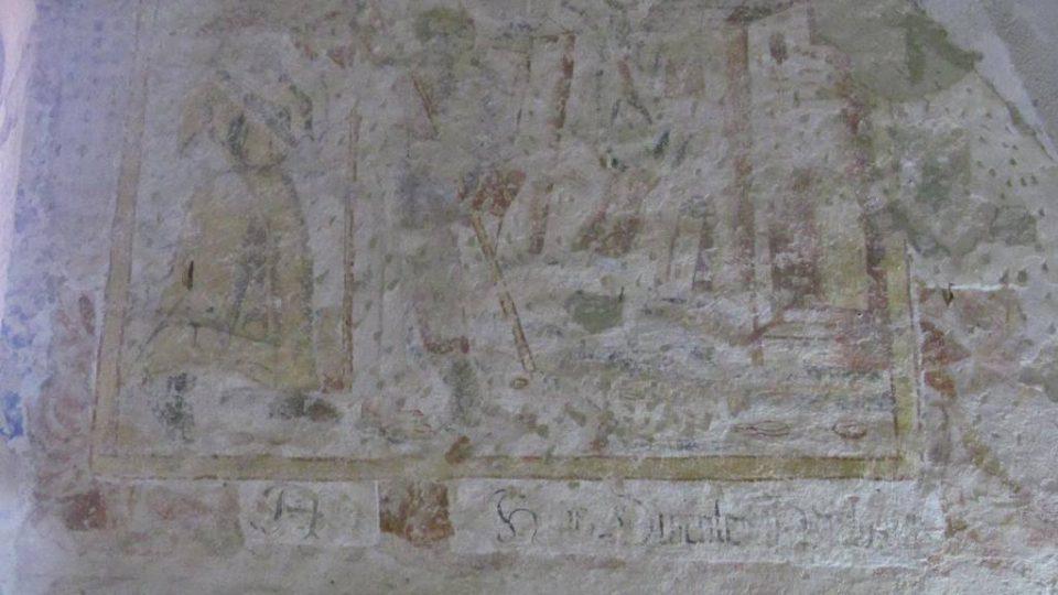 Zbytky nástených maleb v boletickém kostele