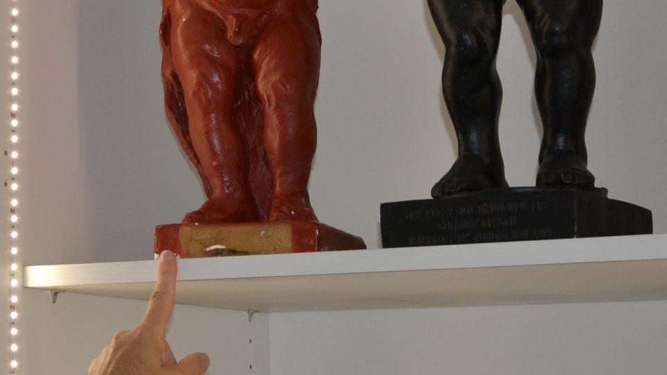 Čurající chlapeček v muzeu v Geraardsbergenu