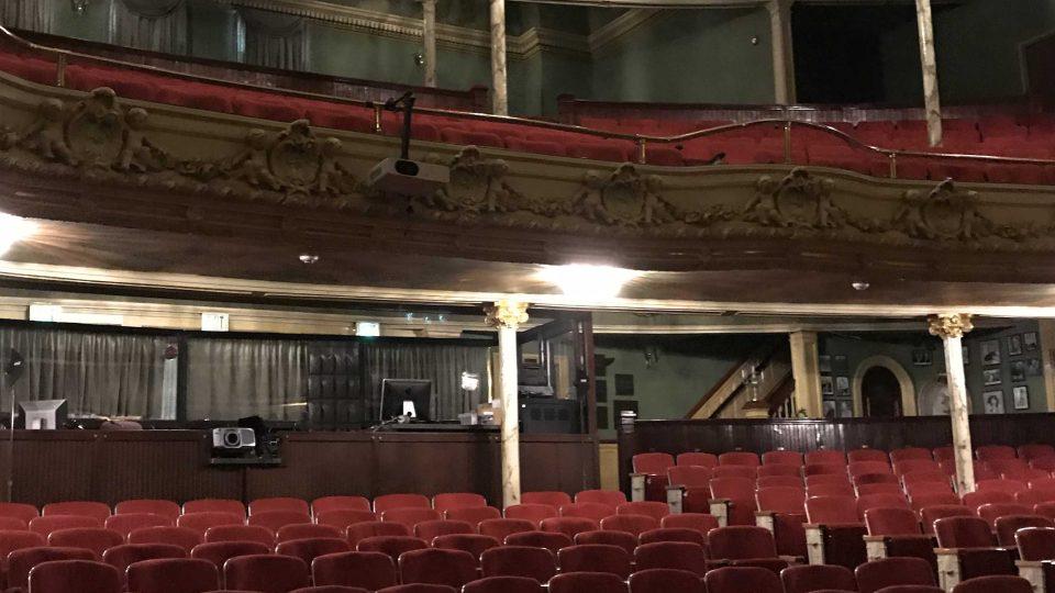Pohled do hlediště Mishlerova divadla