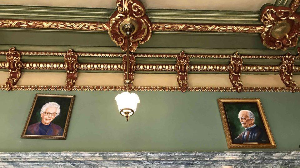 Detail interiéru Mishlerova divadla