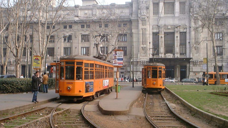 Žluté historické tramvaje k Milánu neodmyslitelně patří