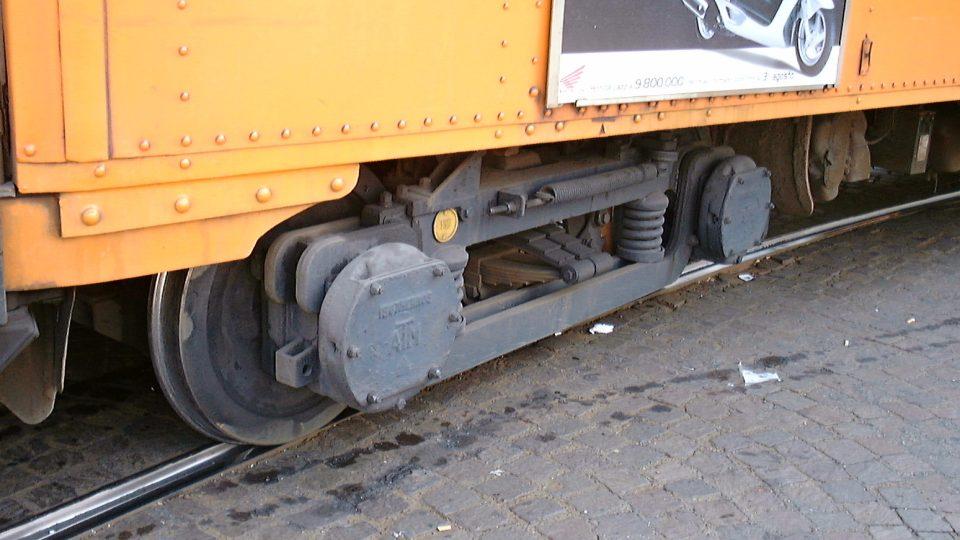 Podvozek historické tramvaje