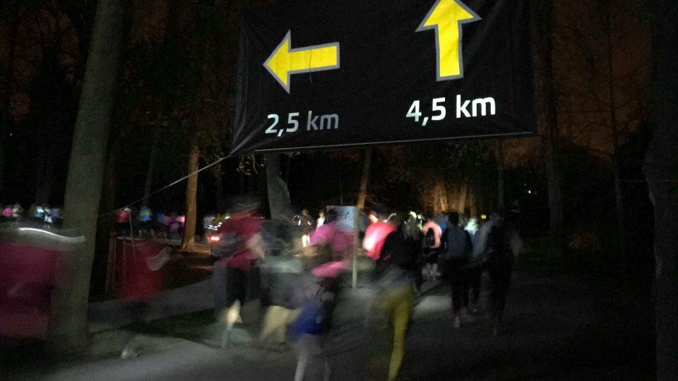 Účastníci Nočního běhu pro Světlušku si ve Stromovce mohli vybrat ze dvou tras