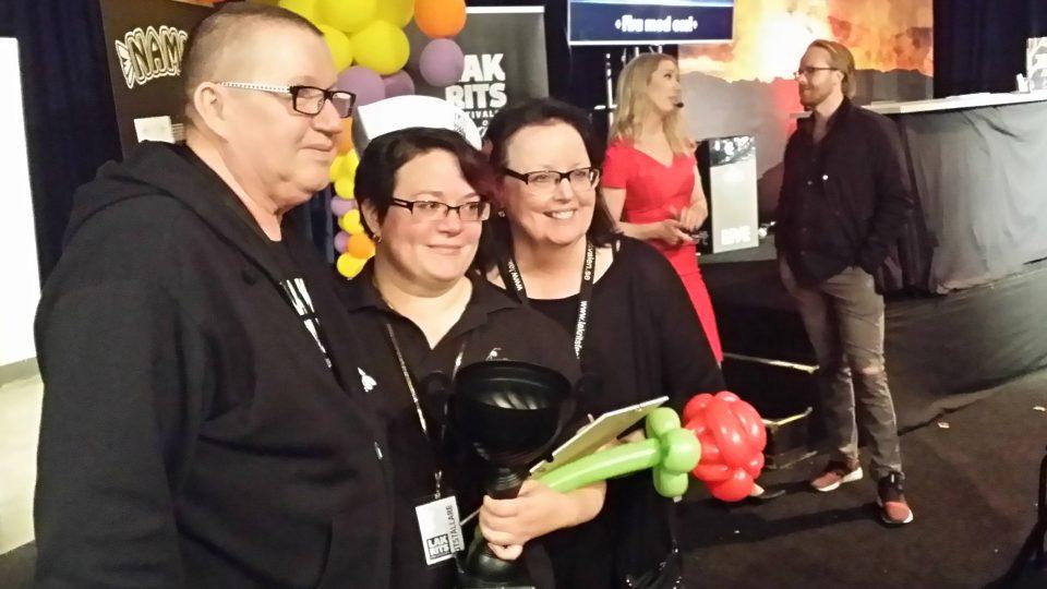 Švédka Ulrika Fjölborigová se raduje z vítězství v soutěži o nejlepší lékořicovou dobrotu roku 2018
