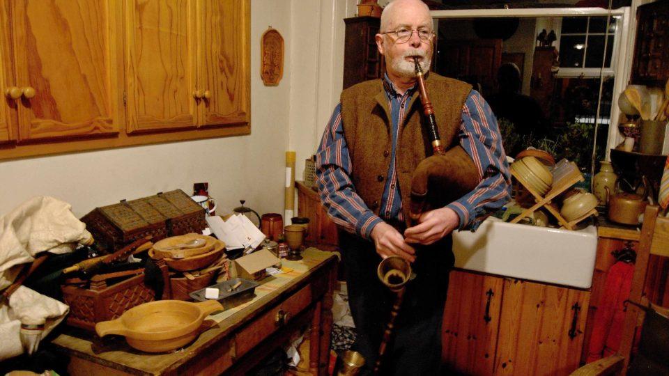 James Mc Donnald Reid, jediný skotský dudák, který hraje i na české dudy