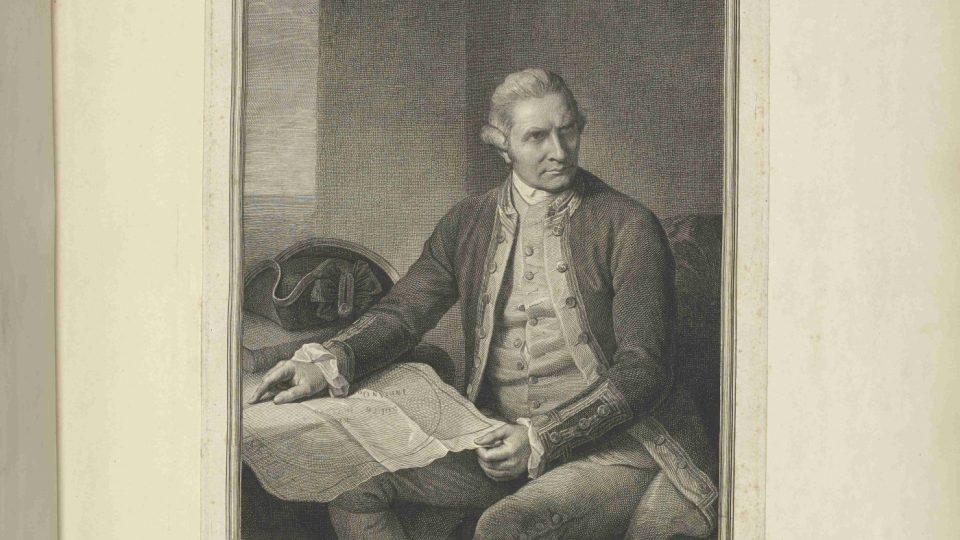 Portrét Jamese Cooka (1728-1779)