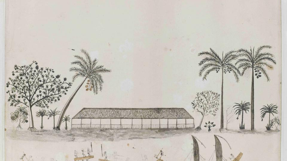 Kresba z Tahiti od Tupaia