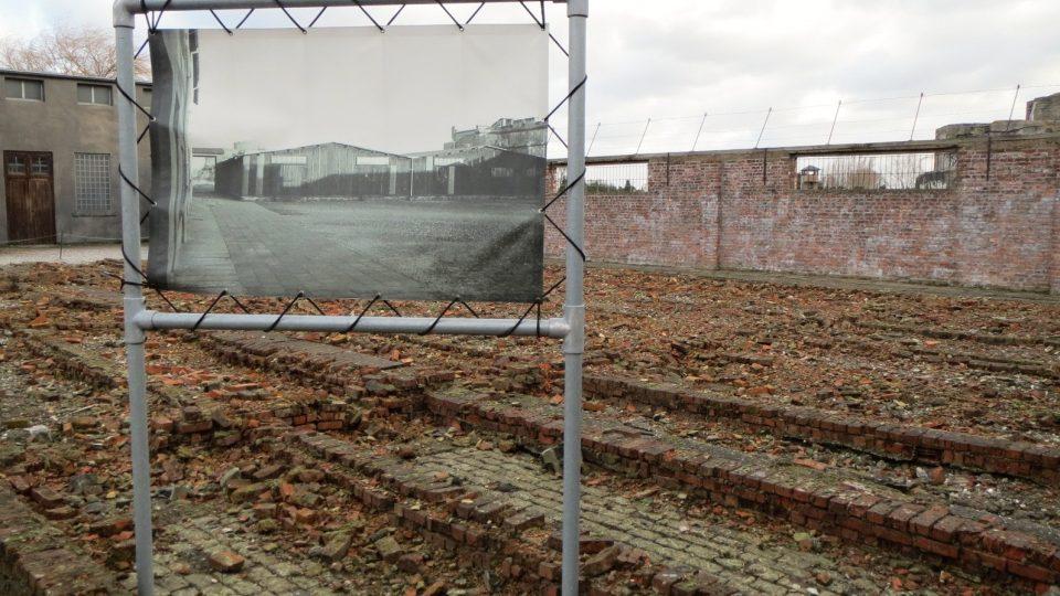 Původní podobu pracovního tábora v Breendonku připomínají velkoformátové fotografie